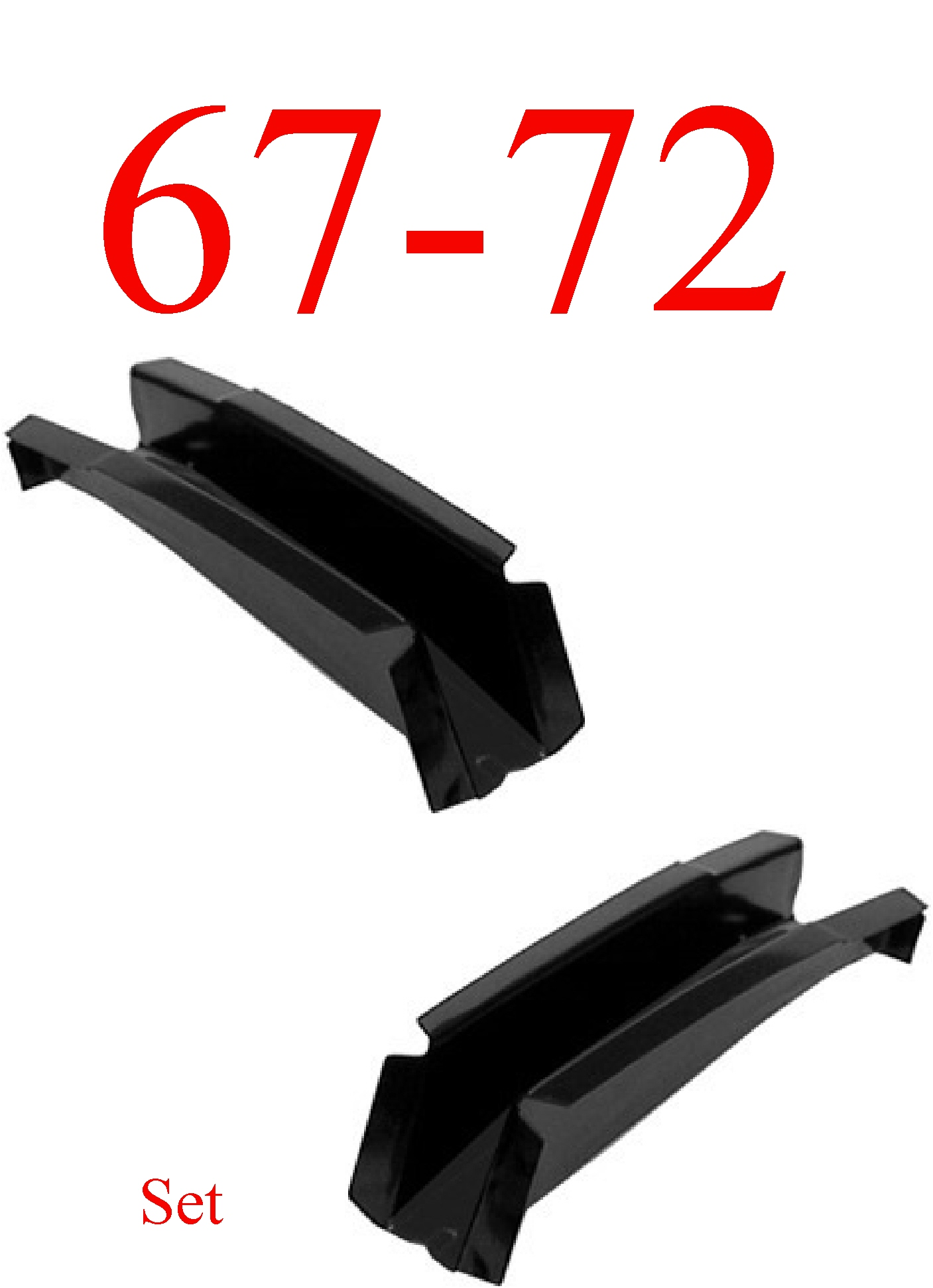 67-72 Chevy 2Pc OEM Front Cab Floor Support Set